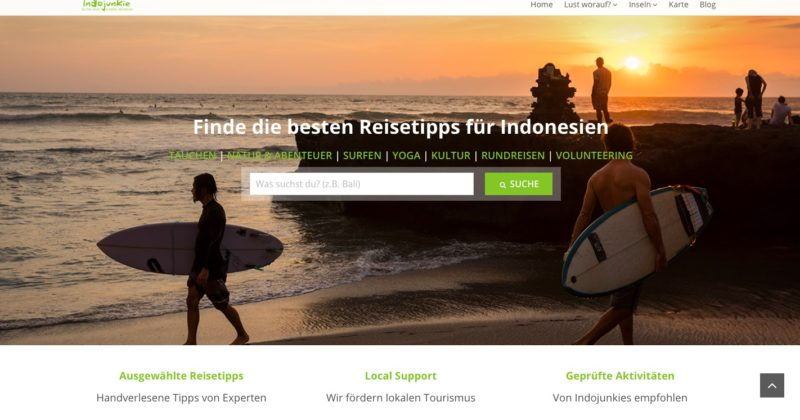 Listing Website: Indojunkie Vibes