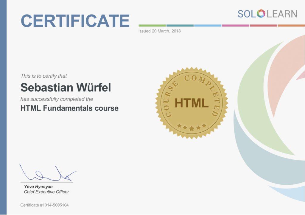 html-zertifikat-sololearn