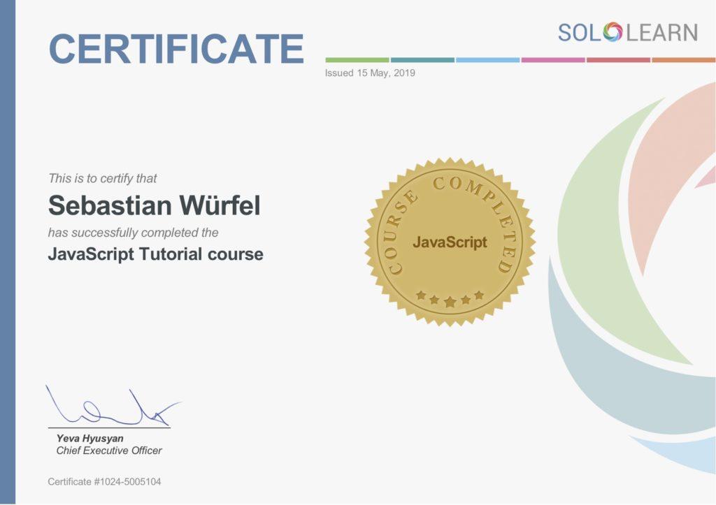 javascript-zertifikat-sololearn