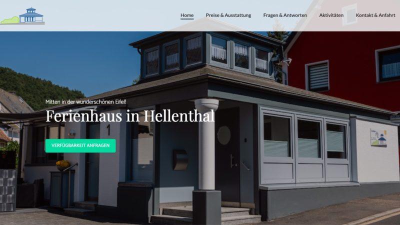 Website für Ferienhaus Marita in der Eifel
