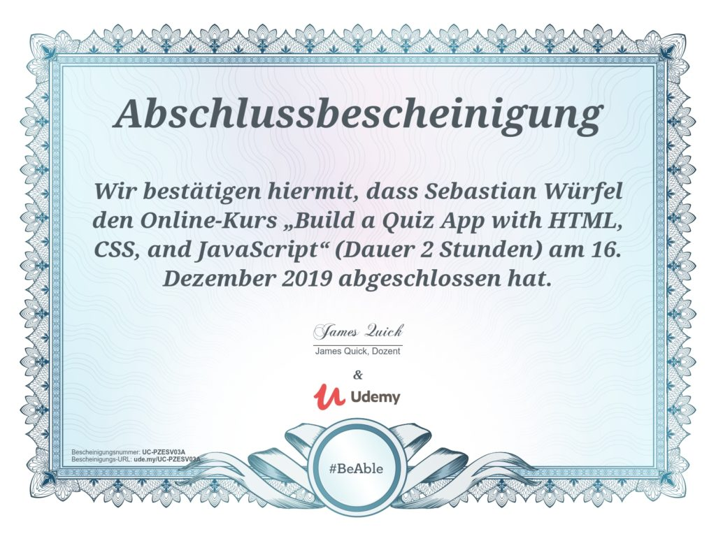 udemy-bescheinigung-js-quiz