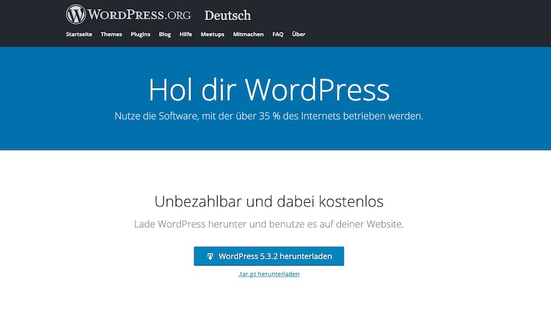 Neue WordPress Version herunterladen