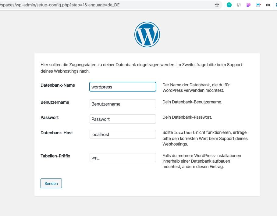 wordpress-unterverzeichnis-datenbank-verknüpfen