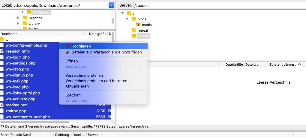 wordpress-unterverzeichnis-hochladen-neue-version
