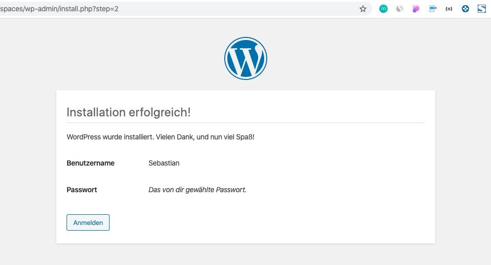 wordpress-unterverzeichnis-installation-erfolg