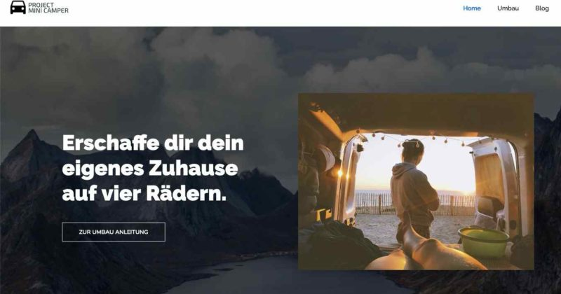 Website für Project Mini Camper