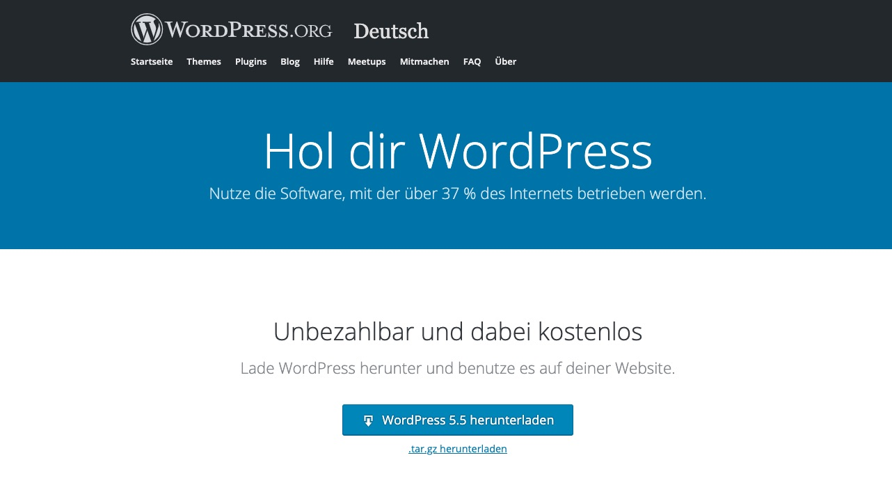 wordpress-installation-ionos-ftp-wordpress-version