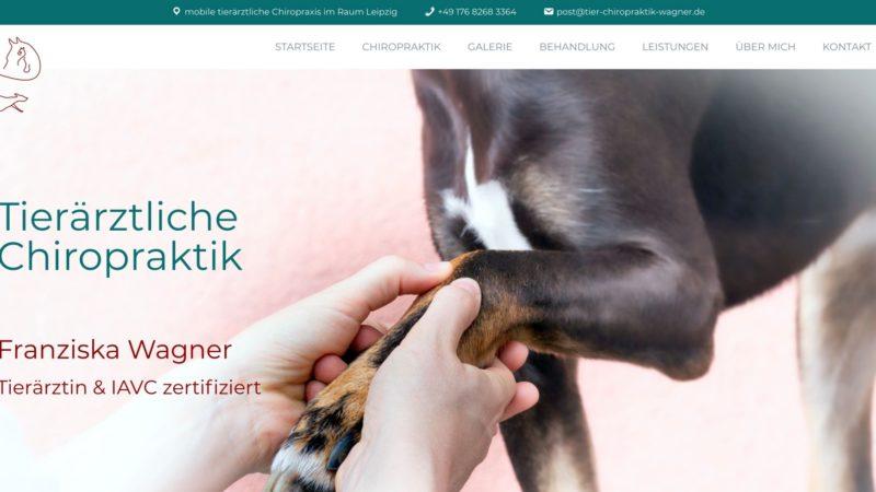 Website Umsetzung: Tierärztliche Chiropraktik Wagner