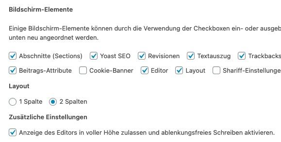 Revisionen nicht angezeigt in WordPress: Erste Fehlerquelle