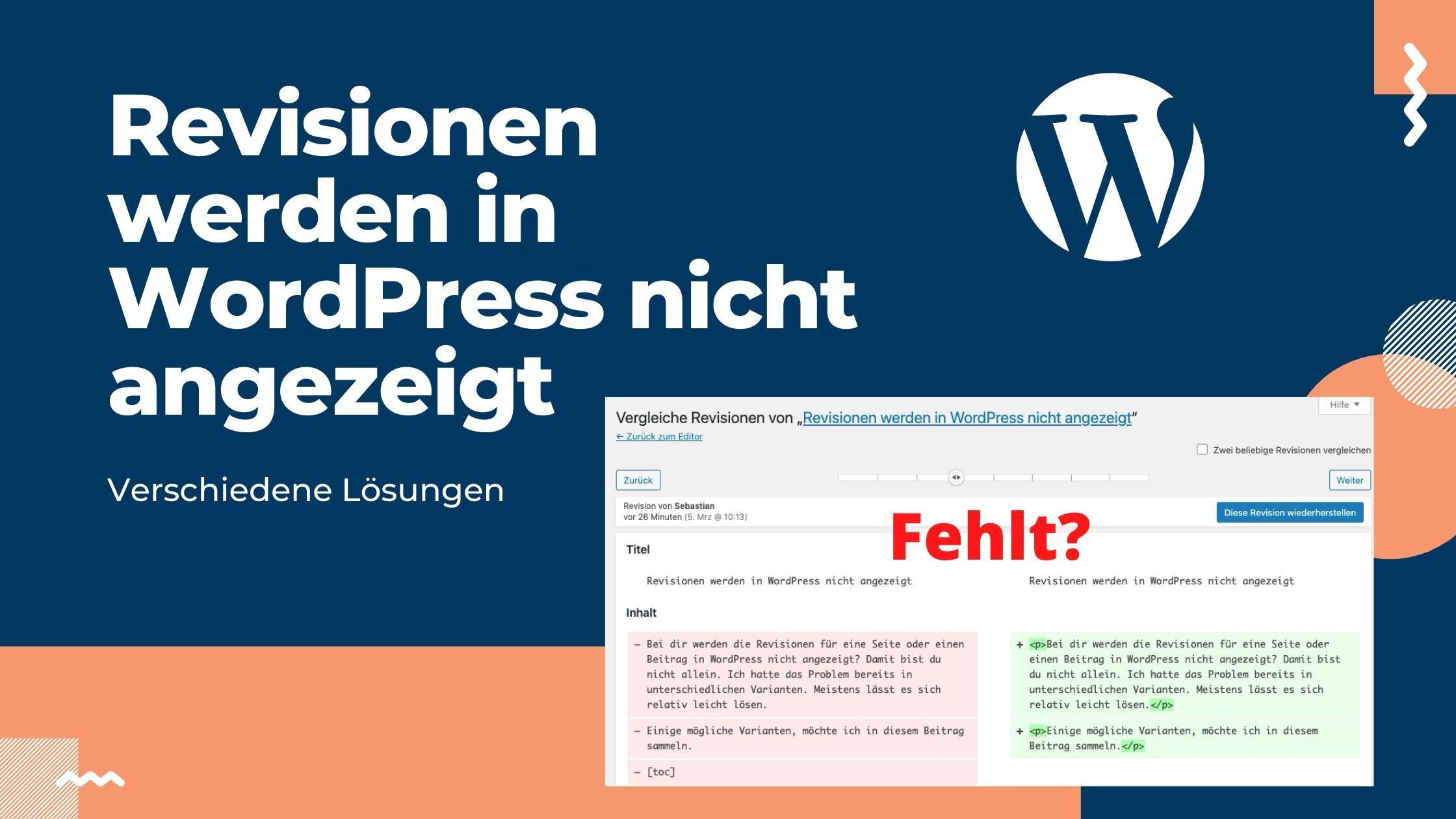 revisionen-wordpress-nicht-angezeigt