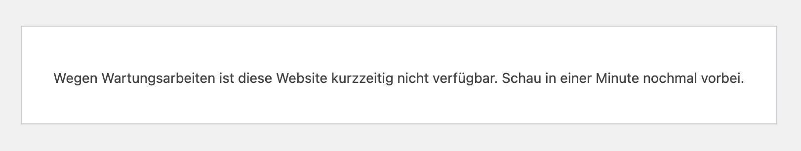 wordpress-wartungsmodus-fehler-mitteilung