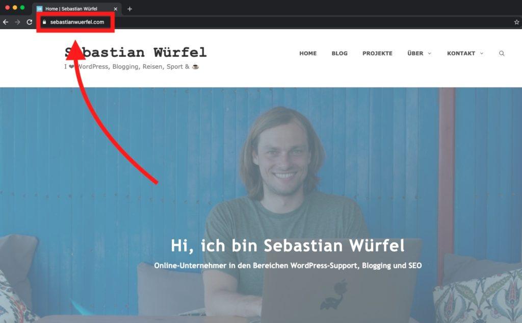 Was ist die Homepage / Startseite bei WordPress